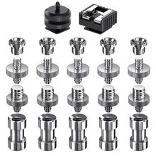 Camera Screw, 22 Pcs 1/4 Inch and 3/8 Converter Threaded Screws Adapter Mount Hot Shoe to Set for Camera/T