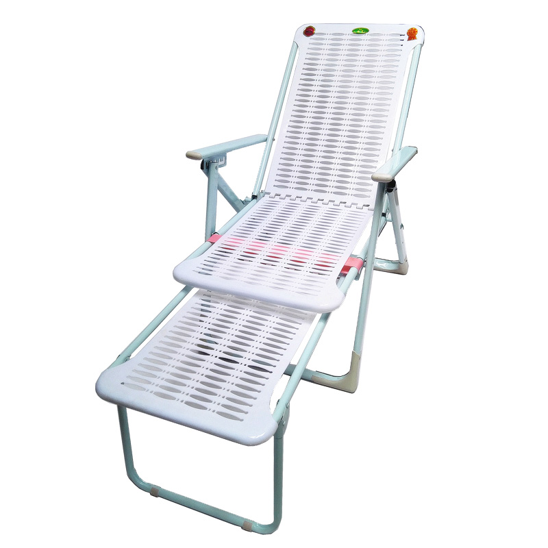 Thickened Recliner Folding Chair Lunch Break Chair Beach Chair Lazy Nap Chair Leisure Office Couch Plastic Recliner
