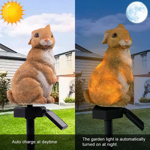coelho movido a energia solar conduziu a lampada de poupanca de energia a prova dwaterproof