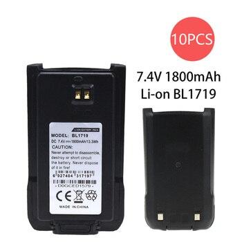цена на 10 Pcs 1800 mAh Replacement Two-Way Radio Li-ion Battery for Hytera BL-1719L HYT TC-508 TC-518 TC-580 TC-446