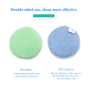 Image 5 - BEAR FAMILY Super Cleaning Brush Sponge Antibacterial Melamine Microfiber PVC Double sided Cleaning Sponges Scouring Pad Kitchen