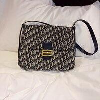 Luxury Famous Designer Brand Letter R Embroidery Printing Design Women Leather Handbags High Quality Big Shoulder Messenger Bags
