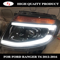 AUTO FRONT LED HEAD LAMPS LAMP LIGHTS TURN SIGNAL LIGHTS FOR FORD RANGER T6 2012 2013 2014 PICKUP CAR HEADLIGHTS