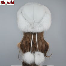 Hat Russian Real-Fox-Fur Winter Natural Women Luxury Warm Fashion Good-Quality New-Style