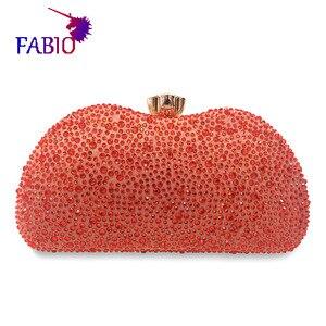 Image 2 - 나이지리아 이브닝 드레스 꽃 desgin 다이아몬드와 함께 아름 다운 여자 가방 좋은 품질 숙 녀 가방