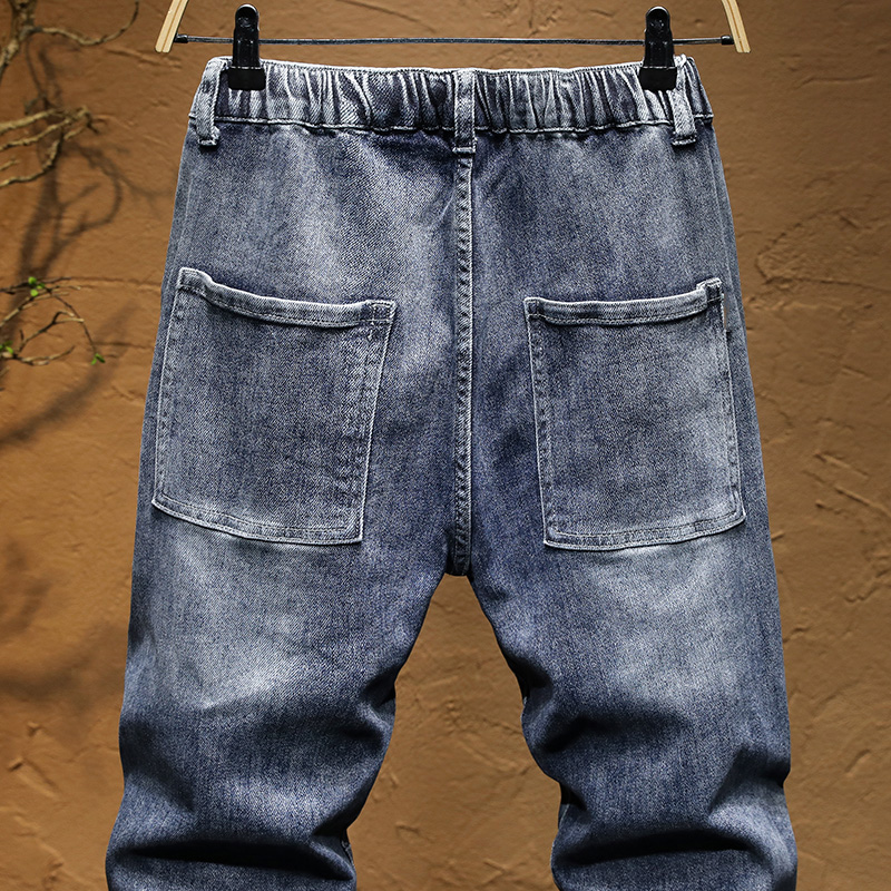 KSTUN Jogger Jeans Men say hi to the denim version of sweatpants the elastic drawstring waist and baggy legs are comfortable 14