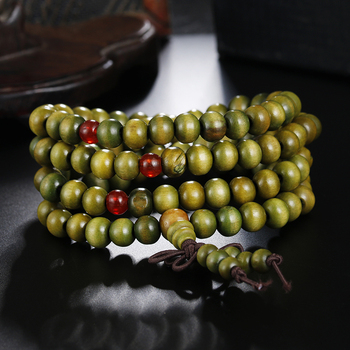 1Pcs 8mm Natural Sandalwood Buddhist Buddha Meditation Wood Prayer Bead Mala Bracelet Bangles Women Men Jewelry 108 Beads Bijoux 5