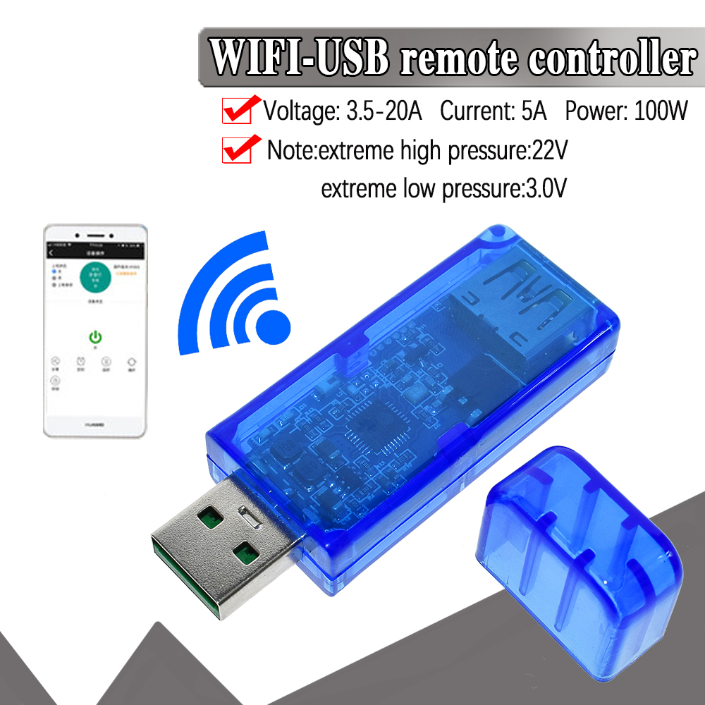 Sinilink WIFI-USB Mobile Phone Remote Controller 3.5-20V 5A 100W Mobile Phone APP Smart Home XY-WFUSB For Arduino