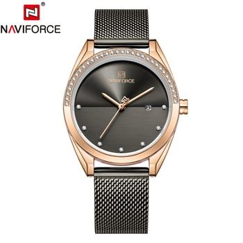 NAVIFORCE 5015 Fashion Dress Watch Women Waterproof with box