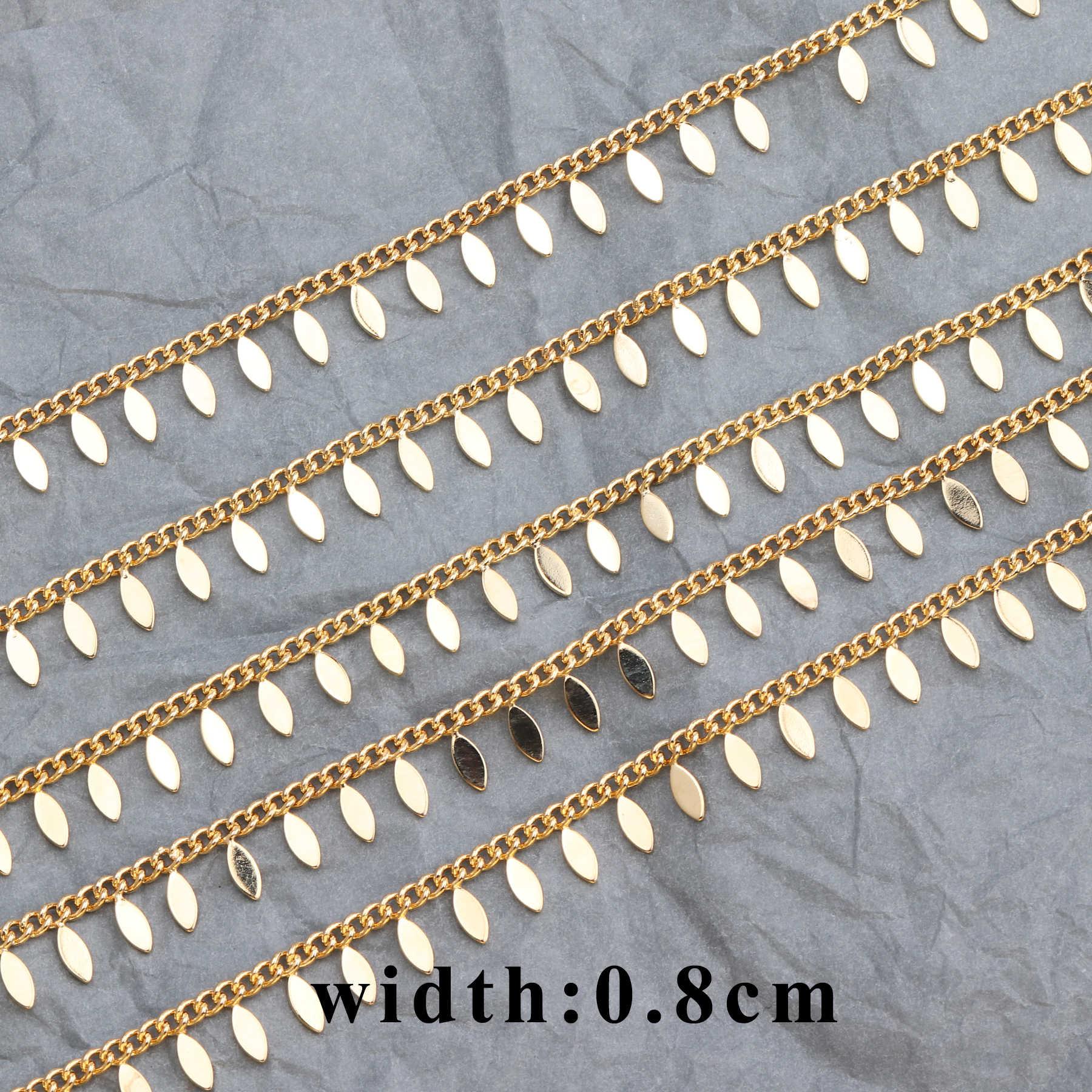 GUFEATHER C55,18k gold überzogene kette, 0,3 mikrometer, schmuck zubehör, kette, hand gemacht, schmuck erkenntnisse, diy ohrringe, 1 mt/los