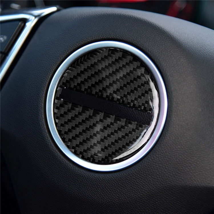 Carbon fiber look steering wheel Cover Trims for 2016 2017 Camaro Accessories