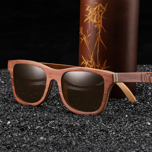 Image 4 - EZREAL Retro Brown Skateboard Wood Sunglasses Men Bamboo Sunglass Women Brand Mirror UV400 Square Sun Glasses Shades Glasses