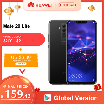 Global Version Huawei Mate 20 Lite 4G 64G 6.3 inch Mobile Phone EU Charger NFC 24MP Front Camera F/2.0 Aperture Kirin 710 1
