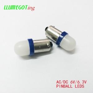 Image 5 - 50個BA9S T4W #44 #47ミルクホワイトドーム2x 5630SMDさまざまな色非極性ac dc 6 12v 6.3vバリーピンボールゲーム機led電球