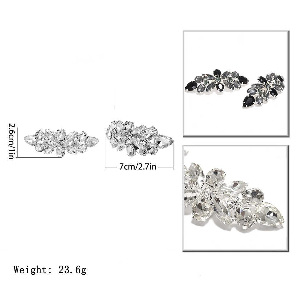 IngeSight. Z 2 шт. элегантные стеклянные украшения для обуви модные женские браслет-подвеска на ногу обувь с кристаллами Свадебные аксессуары для выпускного вечера