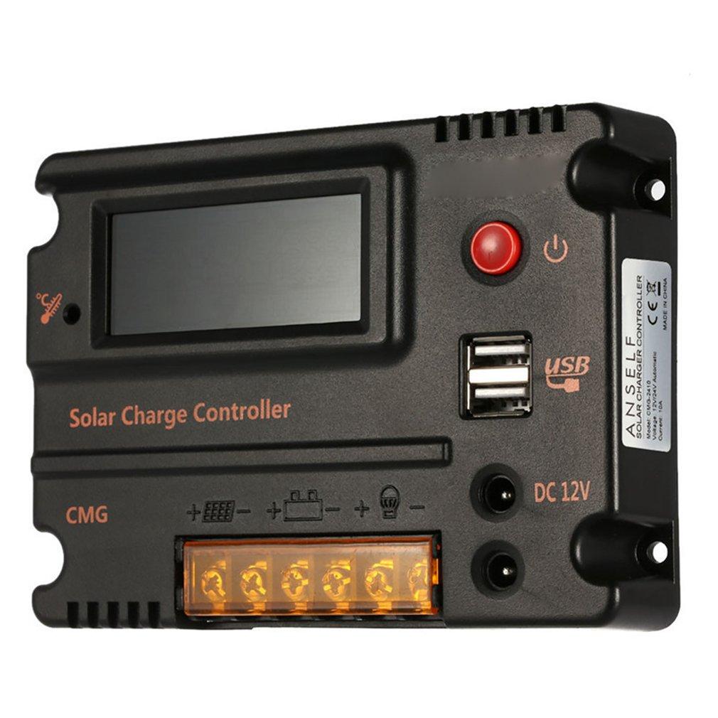 10A/20A ЖК дисплей Дисплей авто за максимальной точкой мощности, Солнечный Контроллер заряда 12 V/24 V для литий ионных Батарея регулятор Температура компенсация|Солнечные контроллеры|   | АлиЭкспресс