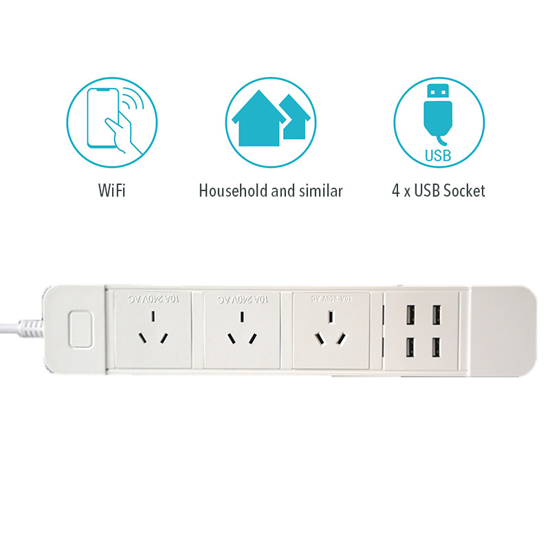 H5c5a053f49d3474eac3f08c5ba142468d - Wifi Smart Power Strip Multiple Surge Protector 3 Way AU Plug Electrical Outlets Extension Sockets with USB by Alexa Google Home