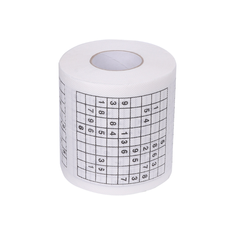 HTHL-Durable Sudoku Printed Tissue Paper Tissue Toilet Paper Fun Game Funny Practical Tools For Life