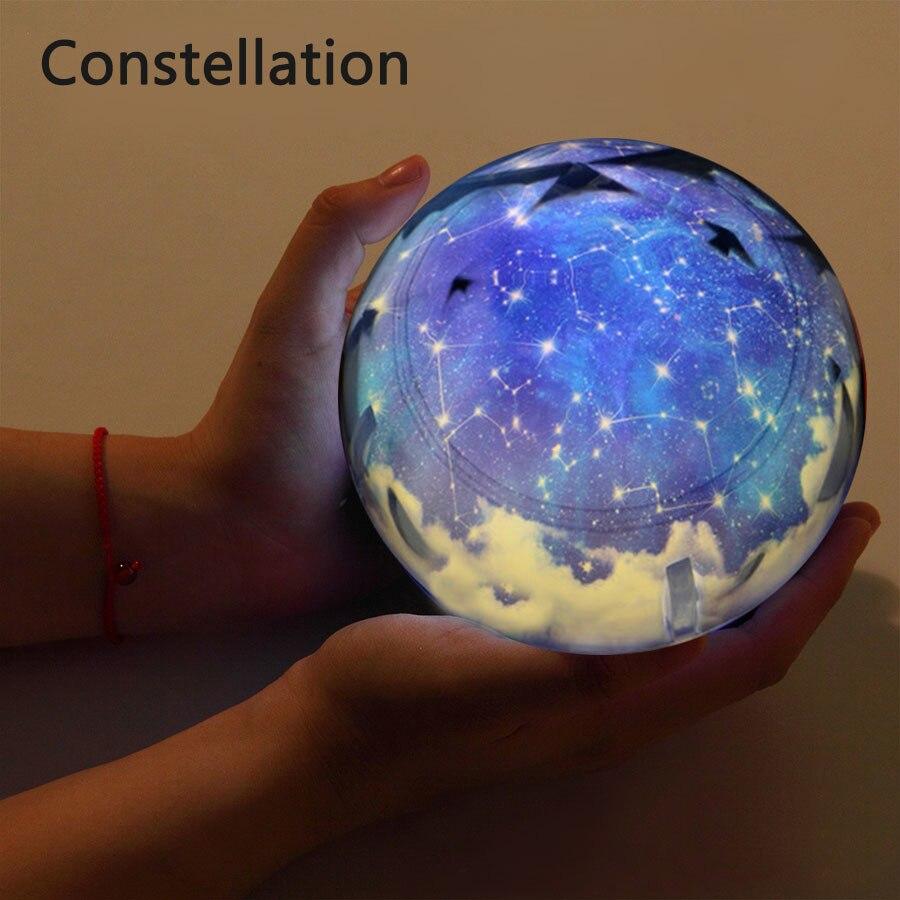 universo terra lâmpada led colorido girar piscando