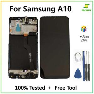 For SAMSUNG GALAXY A10 A105 LCD Display Touch Screen Digitizer Assembly With Frame A105 A105F For SAMSUNG A10 LCD Screen