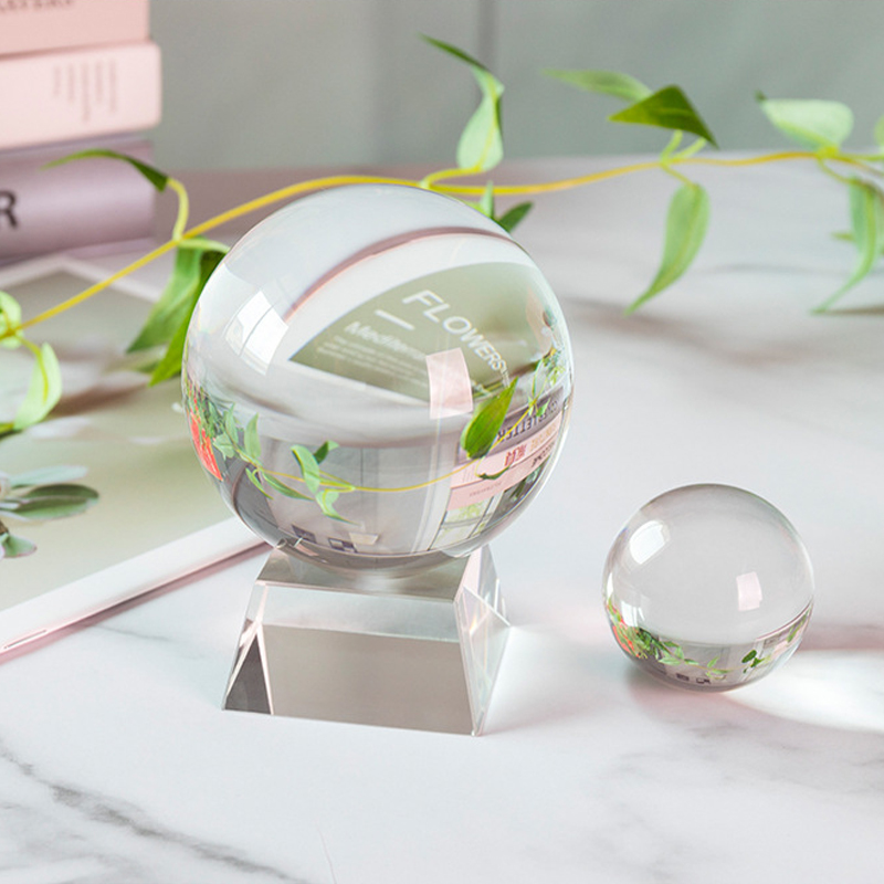 100mm Lensball Clear Glass Crystal Ball Healing Sphere Photography Props Gifts New Artificial Crystal Lens Ball Decorative Balls