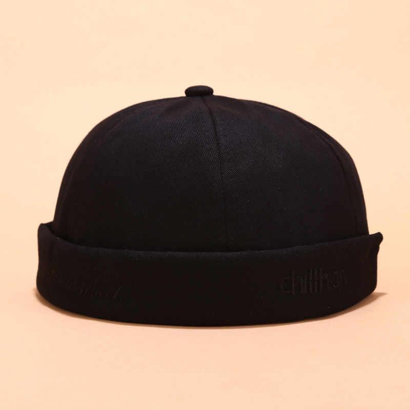 Gorros de Invierno para mujeres boina para hombres Skullies Bonnets gorra Casual estibador marinero mecánico sin ala Color sólido sombrero Invierno nuevo