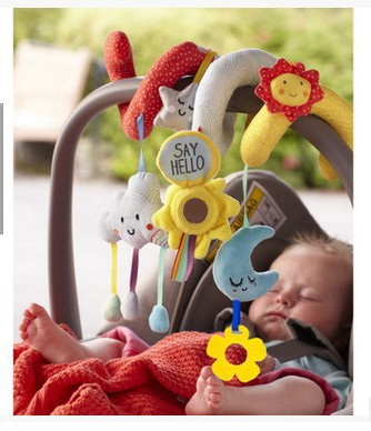 Star Moon Bed Around Trolley Pendant Cloud Sun Bed Hanging Infant Educational Toys Baby Mobiles Rattle