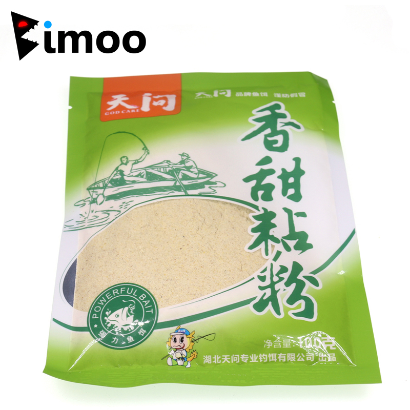 Bimoo 1 bag 100g Sweet Flavor Carp Fishing Groundbait Additive Flavours Fishing Powder Lure Bait image