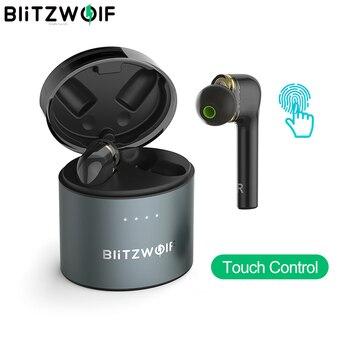 BlitzWolf BW-FYE8 TWS bluetooth 5.0 Wireless Earphone QCC3020 Graphene Dual Dynamic Driver Touch Control Sport Handsfree Earbuds