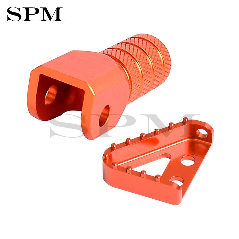 Pedal de freno trasero Punta de palanca para KTM 125, 250, 350, 450, 530, 300 EXC EXCF SX SXF XCW XC 690 Supermotor SMC Enduro Duque Silenciador de escape, Protector de escudo de tubo Protector para KTM EXC SX SXF XC XCF EXCF EXCW XCFW 125 200 250 300 350 400 450 525 530