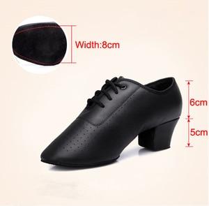 Image 3 - 2020 Latin Dance Shoes For Women Teachers Shoe Girls Ladies Leather Ballroom Waltz Tango Foxtrot Quick Step Dance Shoes BD