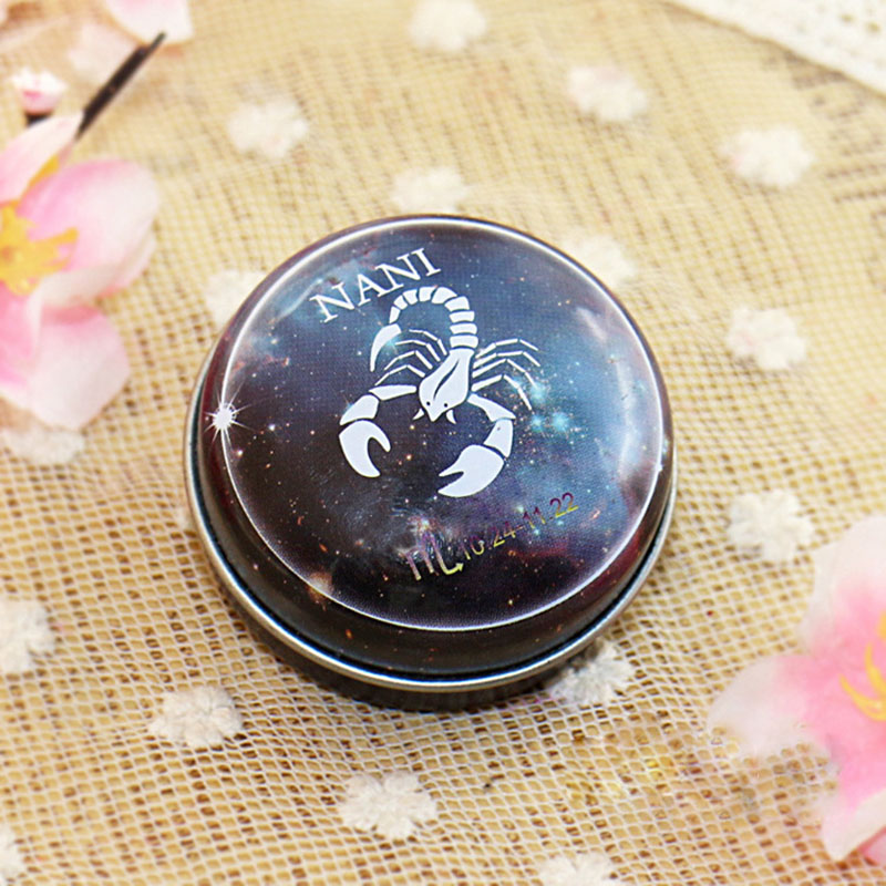 Hot NANI 12  Zodiac Sign Compact Scented Body Balm Skin Care Cream Flower Perfume Essential CNT 66