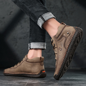 Image 3 - SKRENEDS flambant neuf confortable hommes chaussures décontractées hommes chaussures qualité en cuir chaussures plates pour homme mocassins chaussures grande taille 38 48