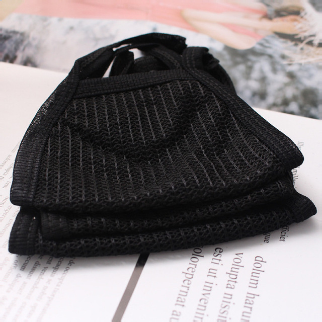 Cotton Yarn Masks Keep Warm Cotton PM2.5 Mask Camouflage Bacteria Proof Flu Anti Dust Mouth Windproof Mouth-muffle Black 2