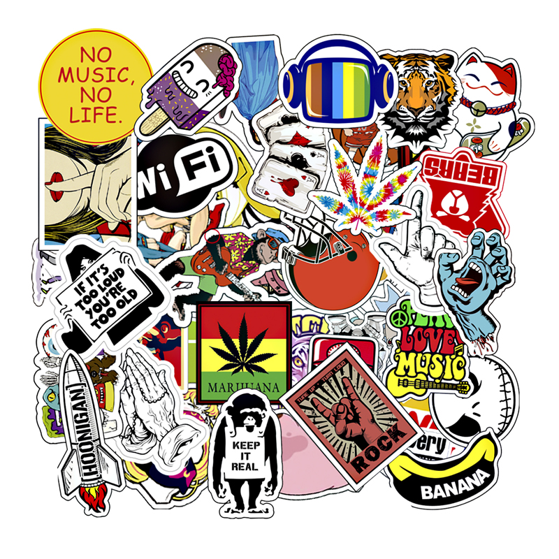50 PCS Mixed Cartoon Toy Stickers for Car Styling Bike Motorcycle Phone Laptop Travel Luggage Sticker Bomb JDM Car Accessories