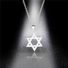 Classic Jewish Magen David Hexagram Necklace Vintage Cute Stainless Steel Star of David