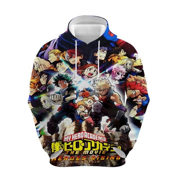 Boku no hero academia hoodie men women fashion spring autumn