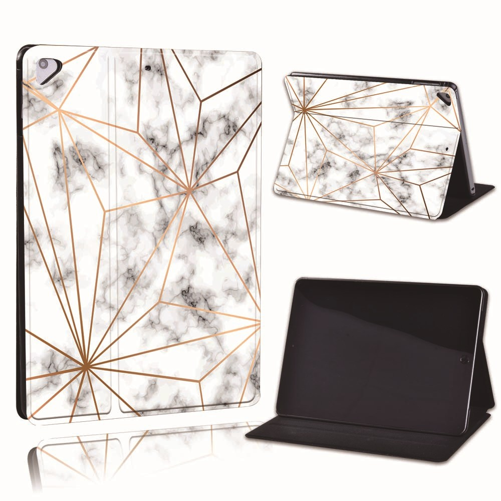7.gold web marble Purple For Apple iPad 8 10 2 2020 8th 8 Generation A2428 A2429 Slim Printed Geometry PU