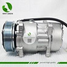 SANDEN 7V16 AC Kompressor für PEUGEOT 306 406 für CITROEN XANTIA 6453FE 6453GA 6453L 5 9613260680 9640486480 1106 1227 SD7V16