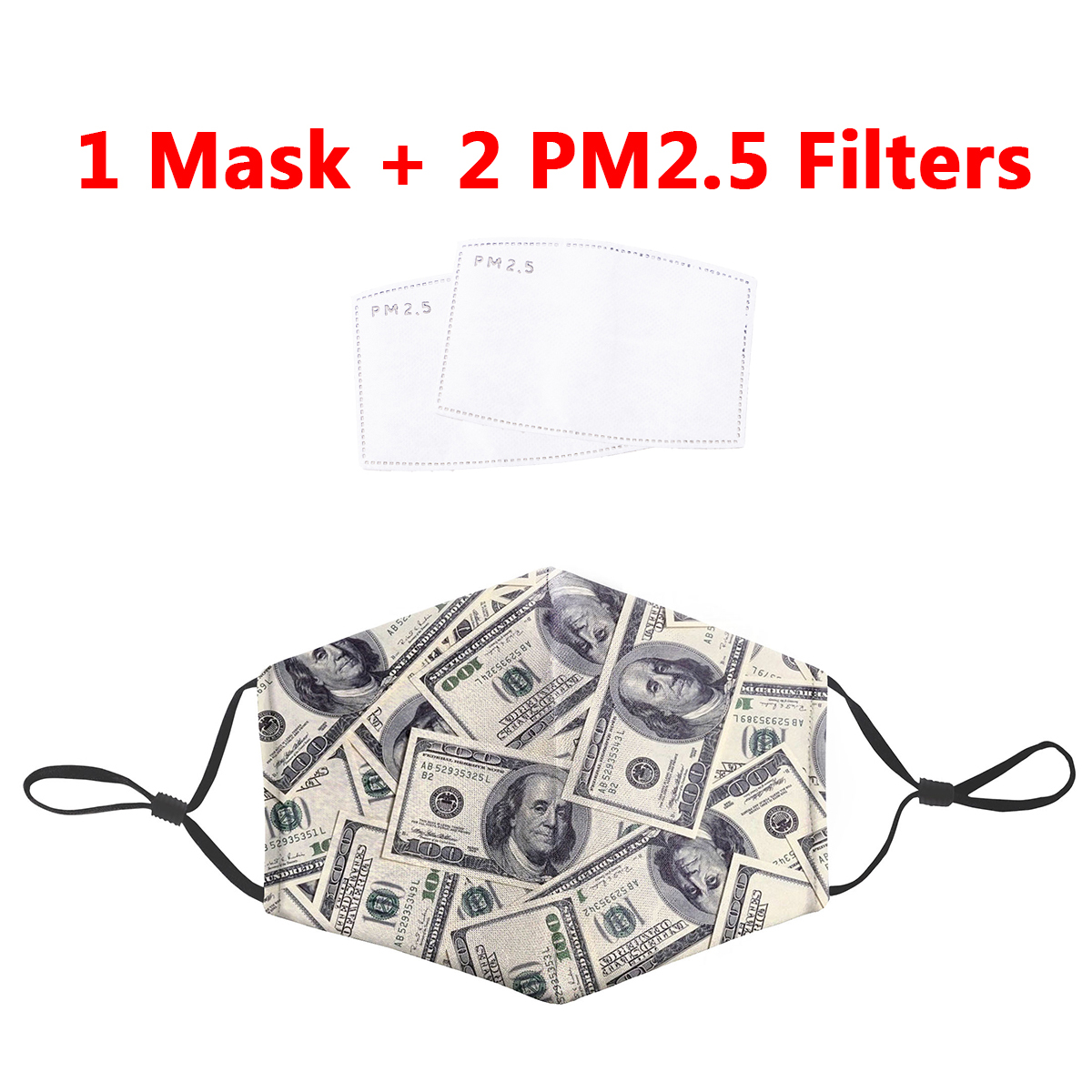 Dollars Money Printing Unisex 3D Mouth Mask Anti Dust Face Masks Within PM2.5 Filters Mouth-muffle Bacteria Proof Flu Mask