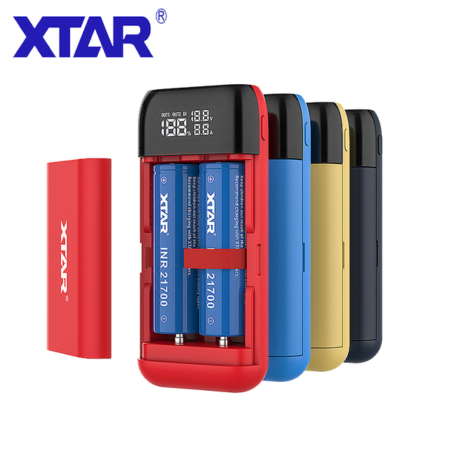 Ładowarka XTAR VC2 VC2S MC2 ładowarka USB do 20700 21700 18650 bateria/szybka ładowarka QC3.0 do ładowarki SC2 / PB2S POWER BANK 18650