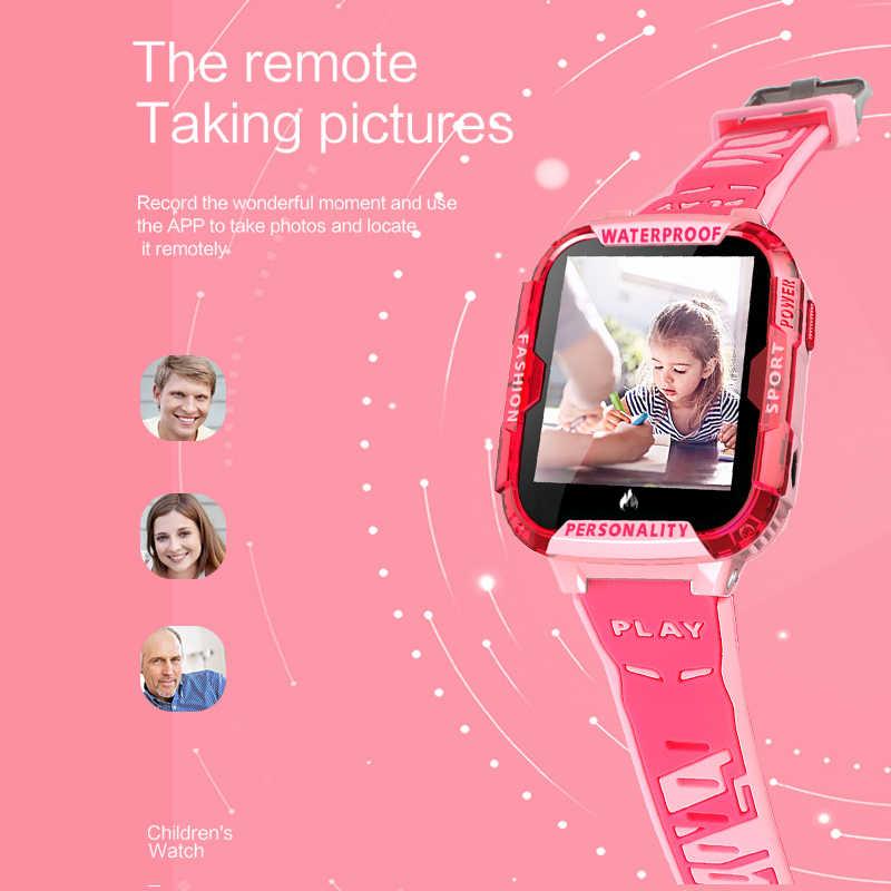 2019 новые стильные синие Смарт-часы для детей Поддержка 4Gsim карты Wi-Fi, чтобы сделать видеозвонок gps трекер SOS детские часы