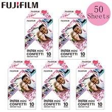 Fujifilm Instax Mini película Instax Mini 11 8 9 confeti película diseño para Fuji Mini 7s 25 26 70 90 cámara instantánea SP-1 SP-2