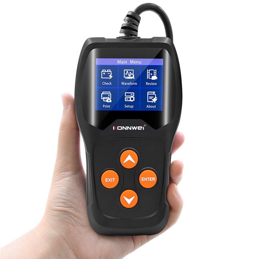 12В автомобильный тестер батареи KONNWEI KW600 100 до 2000CCA 12 вольт анализатор батареи инструмент для быстрой подзарядки диагностический dfdf