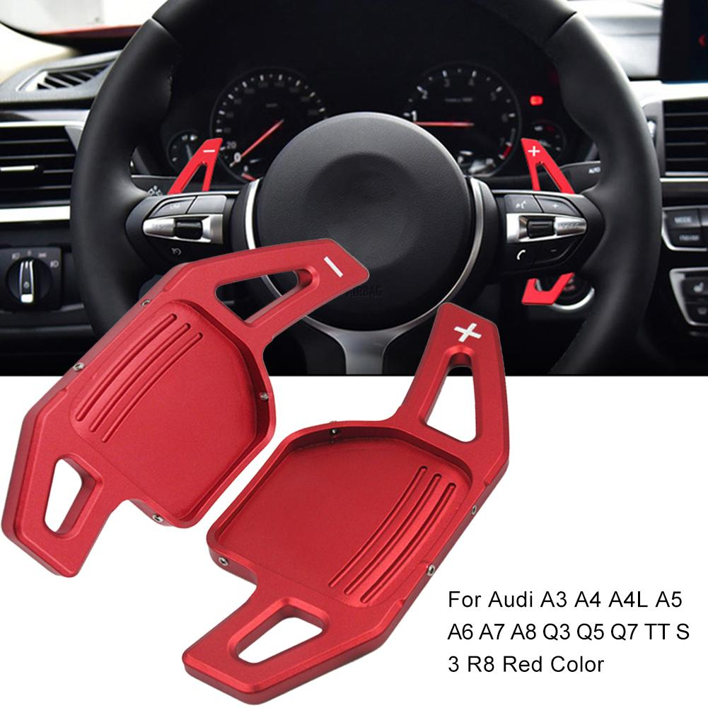 Car Steering Wheel Shift Paddle Shifter Fit For Audi A3 A4 A4L A5 A6 A7 A8 Q3 Q5 Q7 TT S3 R8 Red Color Car Replacement Parts
