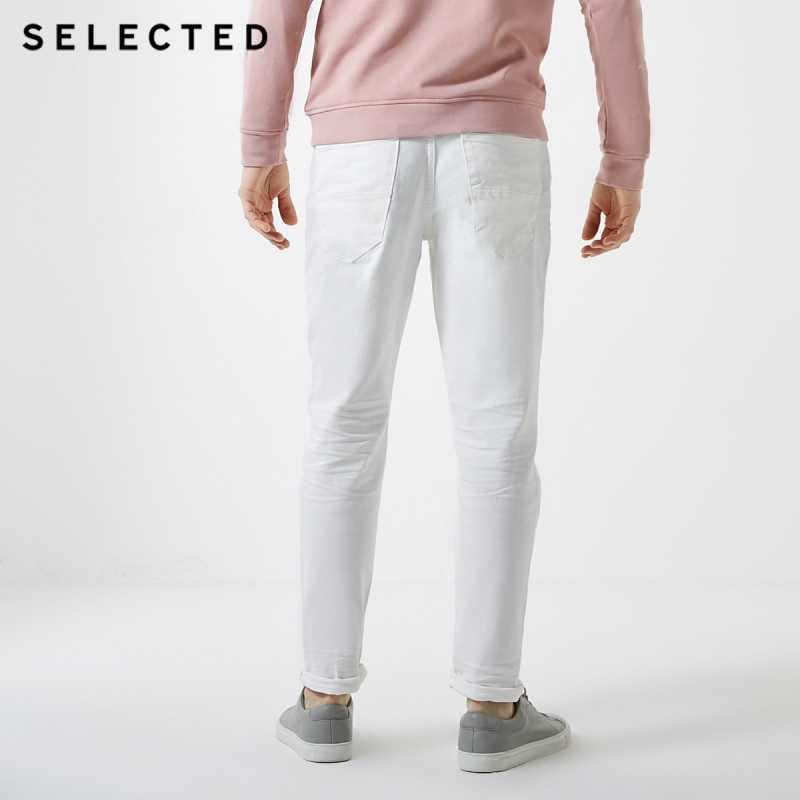 Отборные Стрейчевые джинсовые брюки черные облегающие джинсы C | 419132508
