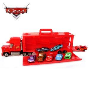 Disney Pixar 3 błyskawica wujek McQueen model ciężarówki może pomieścić samochód transport ciężarówka kontenerowa zabawka zabawka dla dzieci prezent samochodowy