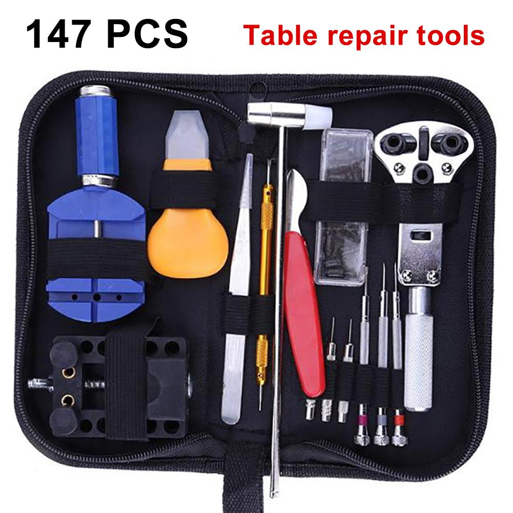 147Pc Watch Repair Tool Kit Set Watchmaker Link Pin Remover Back Case Opener Antimagnetic Screwdriver for Removing Battery Cover