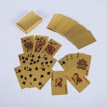 Jeu de cartes d'or, divertissement, jeu de cartes magiques en feuille d'or 24K, cartes durables et étanches