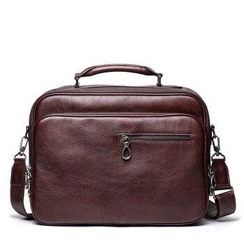 Men Casual Business Leather shoulder Messenger Bag Men's Crossbody male vintage crossbody ipad Laptop briefcase Messenger Bags фото